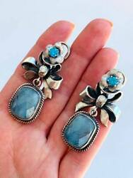 Massive Antique Imperial Russian Sterling Silver 84 Womenand039s Jewelry Earrings 29g