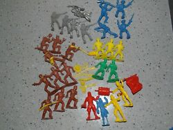 Vintage Mpc Pioneers Cowboys Pirates, Civil War And Other Plastic Toys 1960's Lot