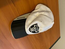 Extremely Rare Oakland Raiders Hat, Soft Silk Top With Hard Brim