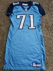 2006 Michael Roos Tennesee Titans Nfl Reebok Team Issued Jersey Sz 46 Game