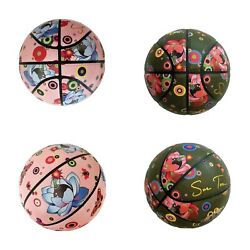 Brown And Pink Sue Tsai Basketballs Flower Bomb Limited Edition Art Space Jam Nba
