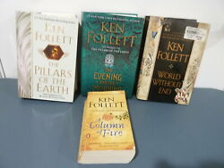 4ct Lot Ken Follett: Complete Kingsbridge Trilogy amp; The Evening and the Morning $17.51