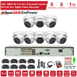 4k 8 Channel H.265+ Dvr With 8x 1080p Hd Cameras Cctv Security Camera System Kit