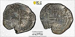 1574-1622 Bolivia 8r Eight 8 Reales Pcgs Cleaned Vf Detail Witter Coin
