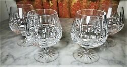 Kylemore Cut Waterford Set Of 4 Brandy Snifters Vintage Irish Excellent 245