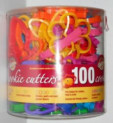 Vtg Wilton Cookie Cutter Shapes Christmas Holiday Easter Alphabet 100 Pc Plastic