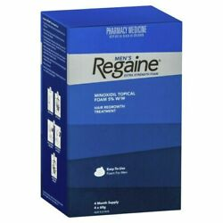 Regaine Menand039s Extra Strength Foam 4 X 60g 4 Months Supply Mens Hair Regrowth