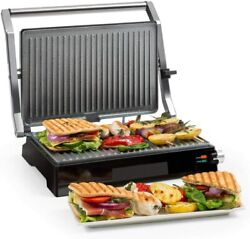 Klarstein Burgermeister 3in1 Grill Of Contact White And Black Up To 464°f