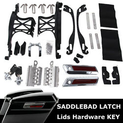 One Touch Opening Saddlebag Latch Lids Hardware Cover Kit For Harley 2014-2021