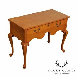 Banks Coldstone By Sarreid Tiger Maple Queen Anne Style Console Table