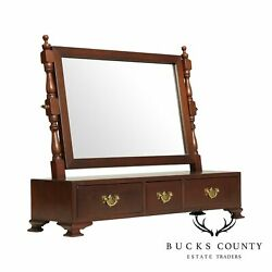 Suterand039s Handcrafted Chippendale Style Mahogany Saving Mirror B