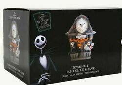 Rare Nightmare Before Christmas Town Hall Clock And Coin Bank New In Box