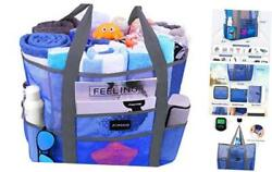 Mesh Beach Bags and Totes for Women MAX Capacity 35L 150lbs Durable Toy Blue $27.94