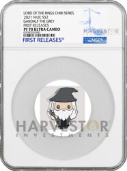 Chibi Coin - Lord Of The Rings Series Gandalf The Grey - Ngc Pf70 First Release