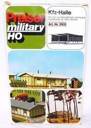 Preiser Ho 187 Military Army Compound Open Motor Vehicle Shed Model Kit Mib`78