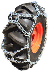 Snow Chains 15.5-38, 15.5 38 Duo Grip Tractor Tire Chains Set Of 2