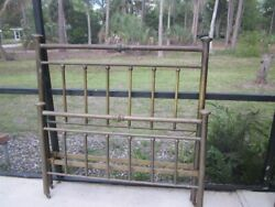 Vintage 1940s Brass Full Size Headboard And Footboard Boho Chic Art Nouveau