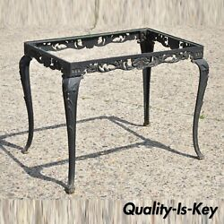Antique French Victorian Cast Iron Cabriole Rectangular Occasional Side Table