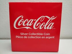 2018 Coca-cola Collectible Bottle Cap Shaped 6g .999 Silver Proof 1 Coin Fiji