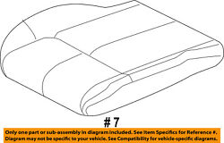Jeep Chrysler Oem Grand Cherokee Front Seat-cushion Bottom Cover Left 5lk63dx9aa
