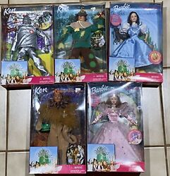 The Wizard Of Oz Barbie Rare Lot Of 5