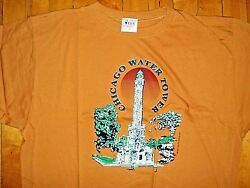 Vintage Chicago Water Tower 1997 90s New Raised Image Logo T Shirt Size Xl