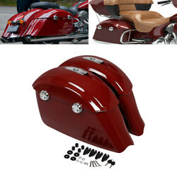 Red Saddlebags Electronic Latch Lid Kit Fit For Indian Roadmaster Classic