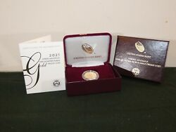 American Eagle 2021 One-quarter Ounce 1/4 Oz Gold Proof Type 1 21ed In Hand