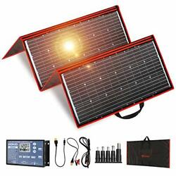 Portable Solar Panel Kit Folding Flexible Include Charge Controller And Cable
