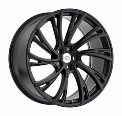 22x10 Redbourne Noble Matte Black W/gloss Face Wheels 5x120 37mm Set Of 4