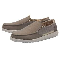 Hey Dude Thad Chambray Shoes Slip-on Casual Loafer -walnut 111911621- New 2021