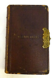 Vintage 1850 The Book Of Common Prayer The Sacraments Leather Bound And Clasp