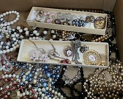 High End Vintage Costume Jewelry Lot Necklaces, Brooches, Earrings, Pins, Sets