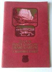 1929 Union Pacific Railroad System Zion Bryce Grand Canyon Nat. Parks Brochure