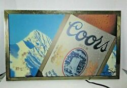 Vintage 1991 Lighted Coors Brewing Company Sign Working Condition