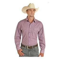 36s9351 Panhandle Menand039s Long Sleeve Orchid Print Western Snap Shirt