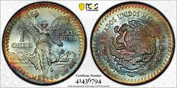 1985 Mo Mexico One 1 Onza Pcgs Ms 67 Libertad Silver Witter Coin