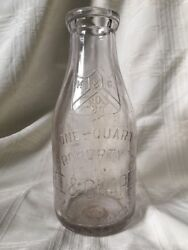 Old Vintage Quart Milk Bottle Kee And Chapell Dairy Company Chicago Illinois