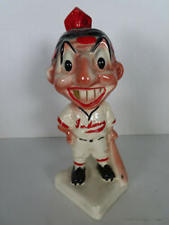 1940's Cleveland Indians Gold Tooth Stanford Pottery Bank 1 Mlb Baseball