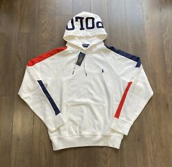 Polo Spell Out Hoodie Sweatshirt Sweater White New W/tags Men's L