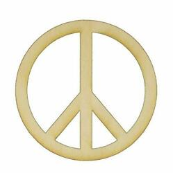 Unfinished Peace Sign Wood Cut Out Avail. In A Variety Of Sizes And Thicknesses