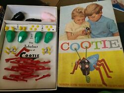 Vintage The Game Of Cootie 1949 W. H. Schaper Toy Mostly Complete 200
