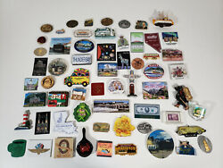 Lot Of Vintage Tourist Souvenir State And Travel Refrigerator Magnets
