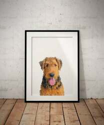 Airedale Terrier Print Airedale Terrier Posterhome decorvintage poster