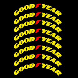 Goodyear Quality Tire Lettering Sticker 1.38 15-24 For 4 Tires Kit Permanent