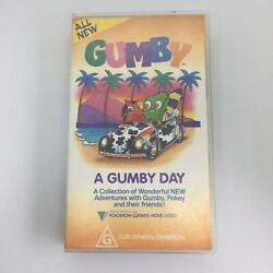 Gumby A Gumby Day Rare 1983 Pal Vhs Roadshow Video Tape 57 Mins