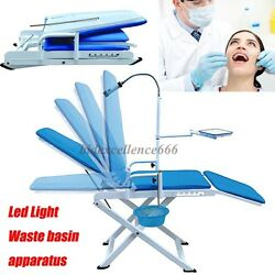 Dental Portable Folding Chair Mobile Unit With Led Cold Light Full Folding Chair