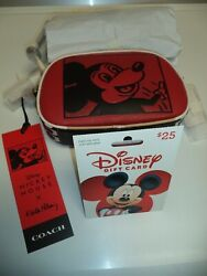 BONUS Coach Disney Mickey Mouse Keith Haring Leather Camera Bag Crossbody Red $149.99