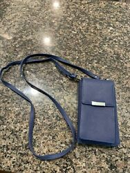 WEEKENDER CELLPHONE CROSSBODY TOUCHSCREEN NAVY WALLET PURSE NEW $12.95