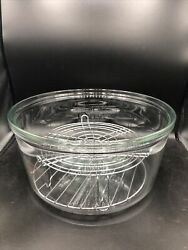 Flavorwave Turbo Convection Oven Ax-797bh Replacement Pyrex Glass Bowl And Racks